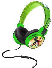 Skylanders Swap Force Junior Headphones Green Volume Limiter Microphone Music