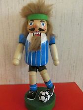 Soccer Player Nutcracker Goalie  Ball  Sports Headband Goalkeeper Blue Ornament