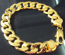 "Noble MEN 14K YELLOW SOLID GOLD GF BRACELET CHAIN 9""   FREE SHIPPING"
