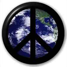 Small 25mm Lapel Pin Button Badge Novelty Peace On Earth Cnd