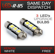 BMW Rear Number Plate License LED Light Bulbs Canbus Error Free Xenon White C5W