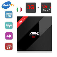 H96 PRO 3G 32G Android 6.0 TV Box Amlogic S912 Bluetooth4.0 KODI 16.1 H.265 4K