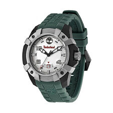 Timberland 13326JPBU-13 Chocorua Men's White Dial Green Strap Quartz Watch