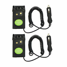 2Pcs Car charger Battery Eliminator Adaptor For Wouxun KG-UVD1P KG-UV6D KG-659