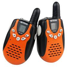 2x Cute Retevis RT-602 Walkie Talkie UHF 446MHz 8CH for Children Kids Radio Gift