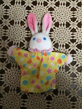 Vintage BUSTER BUNNY Rabbit AVON Plush Soft ANIMAL Hand PUPPET Yellow Pink STAR