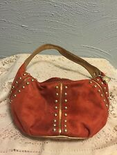 Kathy Van Zeeland Rust Faux Suede Womens Hand Bag Purse