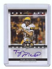TYLER MATTHEWS - New Mexico State / TCU - 2012 Leaf Army Certified AUTOGRAPH RC