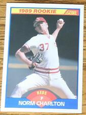 NORM CHARLTON 1989 Score Rookie Baseball Card #646..  (Mint)