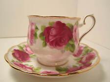 """ROYAL ALBERT ENG CHINA """"OLD ENGLISH ROSE""""  TEA CUP & SAUCER HAMPTON STYLE"""