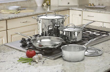 Cuisinart 7 Pc Cookware Set Kitchen Oven Pot Pan Skillet Sauce Stock Stovetop RV