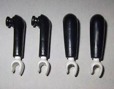 04951, 4x (2 Paar) Arme (mit Nute), schwarz, weiss
