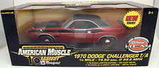 ERTL 1/18 1970 Dodge Challenger T/A RED #33014 American Muscle 10 Fastest Mopar
