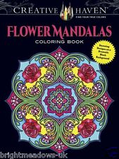 Flower Mandala Adult Colouring Book Creative Floral Pattern Meditate Preorder