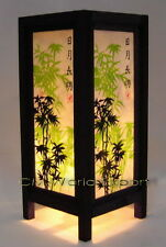 ASIAN ART DECOR PAPER LANTERN DESK, TABLE LAMPS - **BAMBOO TREE LAMP LIGHT**