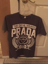 USED The Devil Wears Prada Shirt Gray Size Small Rare Short Sleeve Music Band