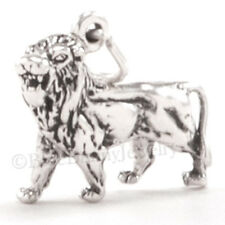 3D LION Zoo Animal African Safari Leo Charm Pendant 925 STERLING SILVER Jewelry