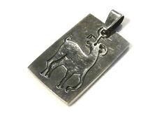 Bijou acier pendentif signe astrologique chinois chèvre  pendant