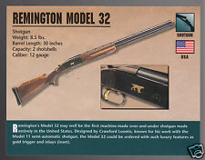 REMINGTON MODEL 32 SHOTGUN 12 Gauge Gun Classic Firearms PHOTO CARD