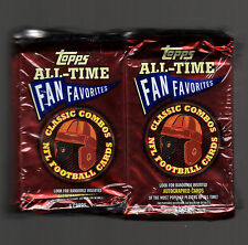 2004 Topps All-Time Fan Favorites Football Foil 24 Packs Sealed-NFL Autos?