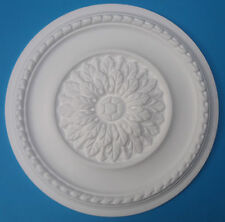 "Ceiling Rose - Polystyrene - ' Eternal Leaf ' - Size 420mm (16 1/2"") *FREE P&P*"
