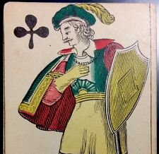 c1850 Playing Card French Knave Full Court Non Transparent Historic Single +COA