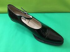 PRADA black patent leather ankle strap pumps shoes, Italy