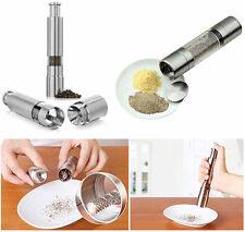 Stainless Steel Thumb Push Salt Pepper Grinder Spice Sauce Mill Muller Stick KY