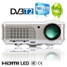 LCD LED Android Projector DVB-T2 HD Home Cinema Wireless Games Airplay HDMI UK