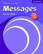 Messages 3 Teacher's Book, Goodey, Diana, Levy, Meredith, Very Good condition, B