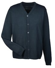 MEN'S V-NECK, BUTTON FRONT, EASY CARE, CARDIGAN / SWEATER, ANTI-PILL, XS-6XL