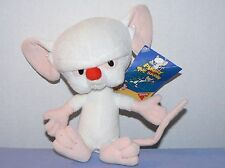 Pinky and the Brain Animaniacs plush stuffed white mouse toy with tag Dakin 7""