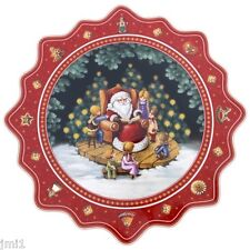"Villeroy & Boch TOY'S FANTASY 16.5"" Large Pastry Plate:  Santa Reading"