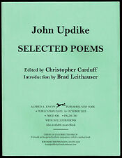 SELECTED POEMS by JOHN UPDIKE (2015) UNCORRECTED PROOF - NEW