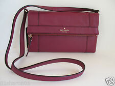 KATE SPADE NEW YORK Fremont Place Julian Red Plum Leather NWT WKRU2593
