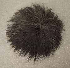ANTIQUE EARLY 1900 UNUSUAL LARGE ROUNDED BLACK FEATHERS FOR MILLINERY HAT 11 inc
