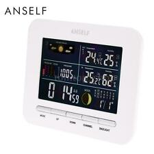 Wireless Weather Station Forcast Clock Alarm Thermometer Hygrometer Home J3P8