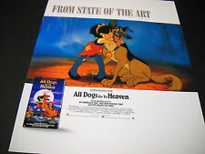 ALL DOGS GO TO HEAVEN ....State Of The Art 1990 PROMO POSTER AD mint condition
