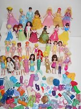Nice Lot Of 35 Polly Pocket Dolls + Clothes - Disney Princess - 4 Clip-Ons