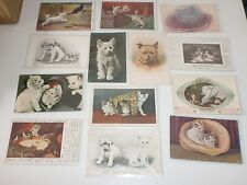 Lot of 13 Vintage Cat and Dog Picture Postcards