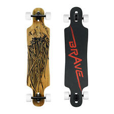 "40"" Inch Longboard Skateboard Drop-Through Mount Longboard Bamboo"
