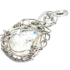 "Rainbow Moonstone 925 Sterling Silver Pendant 2"" Ana Co Jewelry P605358F"