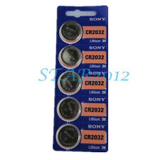 5 Pcs SONY CR2032 CR 2032 3v DL2032 L14 Coin Lithium Toy Lamp Scale Battery New
