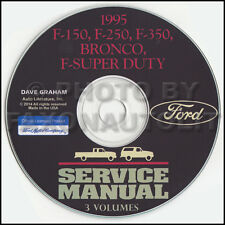 1995 Ford Truck Shop Manual CD F150 F250 F350 Pickup Super Duty Bronco Service
