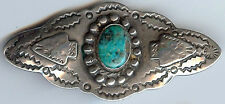 VINTAGE NAVAJO INDIAN APPLIED ARROWHEADS STERLING SILVER & TURQUOISE PIN