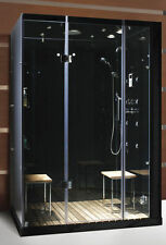 STEAM PLANET 59 x 40 CONTEMPORARY M-6028 JETED 2 PERSON STEAM SAUNA SHOWER UNIT