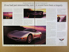 1998 chevrolet Corvette C5 Convertible chief engineer comments vintage print Ad