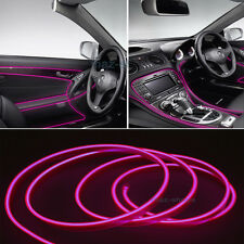 2M 12V EL Nice Wire Pink Cold light Neon Lamp Atmosphere Unique Decor For Jeep
