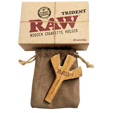 Raw Trident Wooden Cigarette Holder Handmade Sustainable Wood Unrefined New