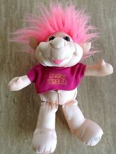 "DanDee LUCKY TROLL DOLL PINK PLUSH 11"" TOY 1991"